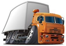 Vector cartoon delivery / cargo truck Royalty Free Stock Image