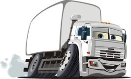Vector cartoon delivery / cargo truck Royalty Free Stock Photography