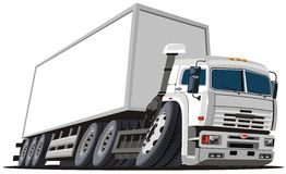 Vector cartoon delivery / cargo truck. Vector illustration cartoon delivery / cargo semi-truck KAMAZ. Available AI-10 format separated by groups and layers for Royalty Free Stock Photos