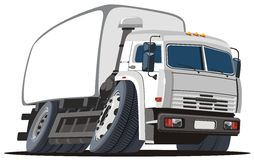 Vector cartoon delivery / cargo truck Royalty Free Stock Images