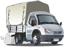Vector cartoon delivery / cargo truck Royalty Free Stock Photo