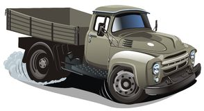 Vector cartoon delivery / cargo truck Royalty Free Stock Photos