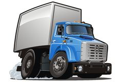 Vector cartoon delivery / cargo truck Stock Photography
