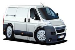 Vector cartoon delivery / cargo van Royalty Free Stock Image