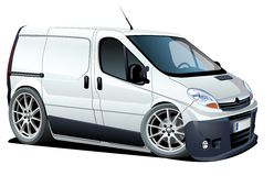 Vector cartoon delivery / cargo van Stock Photography
