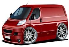 Vector cartoon delivery / cargo van Royalty Free Stock Photos