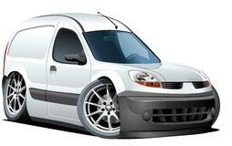 Vector cartoon delivery / cargo van Stock Image