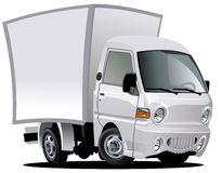 Vector cartoon delivery / cargo van Stock Photos