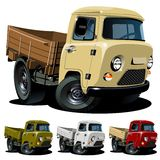 Vector cartoon delivery truck royalty free stock photo