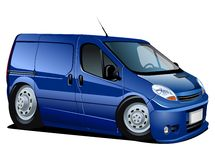 Vector cartoon delivery van Stock Photo