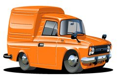 Vector cartoon delivery van Stock Image