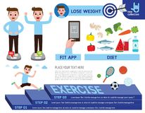 Vector cartoon design banner infographic health concept royalty free illustration