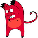 Vector cartoon devil Royalty Free Stock Photos
