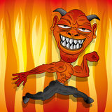 Vector. Cartoon devil. Stock Image