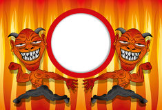Vector. Cartoon devils. Royalty Free Stock Photo