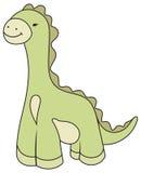 Vector Cartoon Dinosaur Illustration. Vector kinder child Cartoon green Dinosaur Illustration Stock Photos