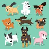 Vector cartoon dogs Royalty Free Stock Photo