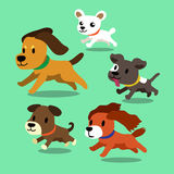 Vector cartoon dogs running. For design Royalty Free Stock Images