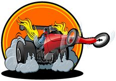 Vector cartoon dragster Royalty Free Stock Image