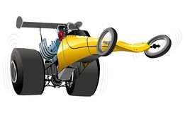 Vector cartoon dragster Royalty Free Stock Photos