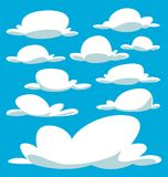 Vector cartoon drawing isolated bulky cloud template Royalty Free Stock Photography