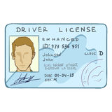 Vector Cartoon Drivers ID Stock Photos
