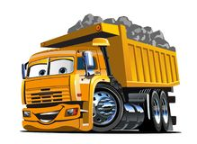 Free Vector Cartoon Dump Truck Stock Image - 116418551