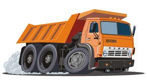 Vector cartoon dump truck Royalty Free Stock Photos