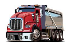 Vector Cartoon Dump Truck Royalty Free Stock Photos