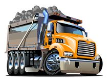 Vector Cartoon Dump Truck. Available EPS-10 vector format separated by groups and layers for easy edit Royalty Free Stock Image