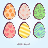 Vector cartoon Easter Eggs. Illustration of easter eggs on a white background Royalty Free Stock Photo