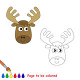 Vector cartoon elk to be colored. Stock Photos