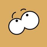 Vector cartoon eyes. Eps10. Vector cartoon eyes. Beige. Eps10 stock illustration