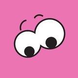 Vector cartoon eyes. Eps10. Vector cartoon eyes. Pink. Eps10 Stock Image