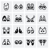 Vector Cartoon eyes icon set Royalty Free Stock Image