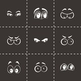 Vector cartoon eyes icons set Stock Images