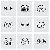 Vector cartoon eyes icons set Royalty Free Stock Images