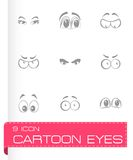Vector cartoon eyes icons set Royalty Free Stock Photo