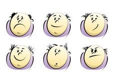 Vector cartoon face stock illustration