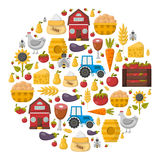 Vector cartoon farm market background Royalty Free Stock Images