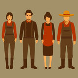 Vector cartoon farmer character,. Farm, village people, agriculture illustration Royalty Free Stock Images