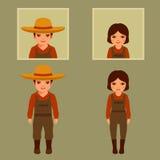 Vector cartoon farmer character, Royalty Free Stock Photography