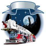 Vector Cartoon Fire Truck. Available EPS-10 vector format separated by groups and layers for easy edit Royalty Free Stock Photos