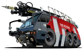 Vector cartoon firetruck royalty free stock photos