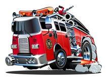 Vector cartoon firetruck Stock Photography