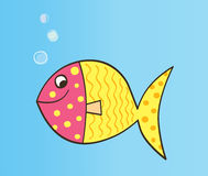 Vector cartoon fish. Colorful cartoon fish. Vector Illustration Stock Image