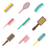 Vector cartoon flat hair brushes icon Stock Images
