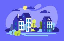 City houses facades. Stock Image
