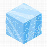 Vector cartoon flat isometric game brick cube. Vector ice cubes design elements for games Royalty Free Stock Photos
