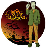 Vector Cartoon Frankenstein Halloween Stock Photo